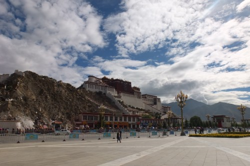 Potala Palace square in Lhasa