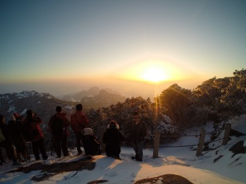 Famous sunset of Huangshan