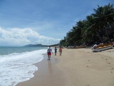 Beautiful Chinese Beach of Tianya, Hainan island