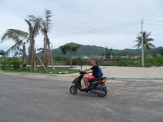 Scooter riding at Hainan island