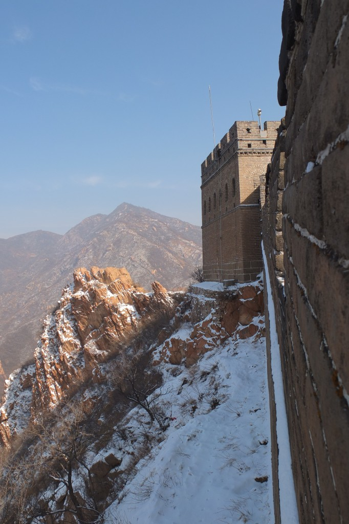 Great wall in snow, near Beijing