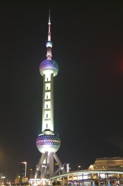Oriental TV Tower at night