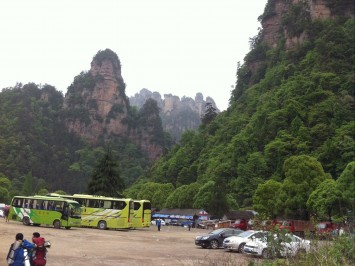 Parking place in Zhangjiajie village