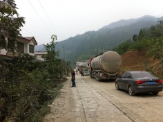 Traffic Jam in the middle of nowhere (Sichuan province)