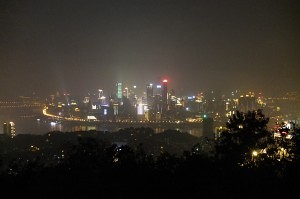 Chongqing skyline view