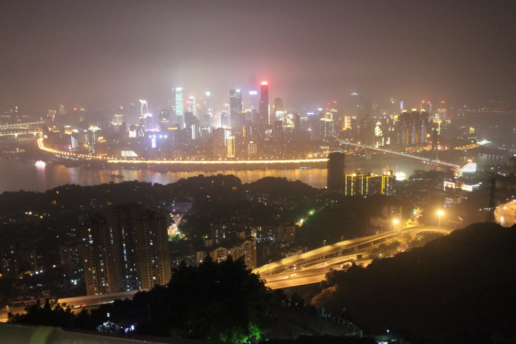 Chongqing skyline - View from NanShan