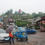 Cars are allowed in the theme park Foreigner street Chongqing