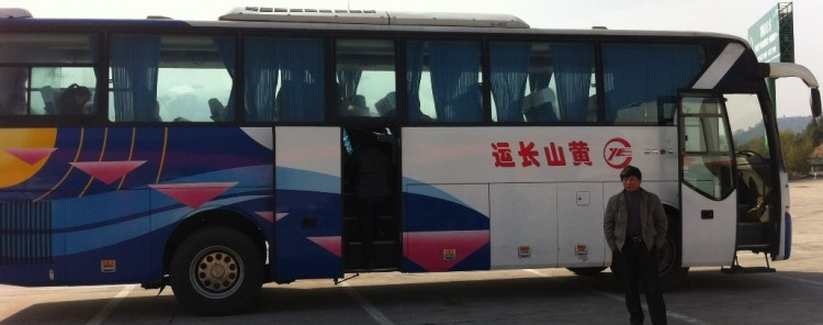 Long distance buses in China