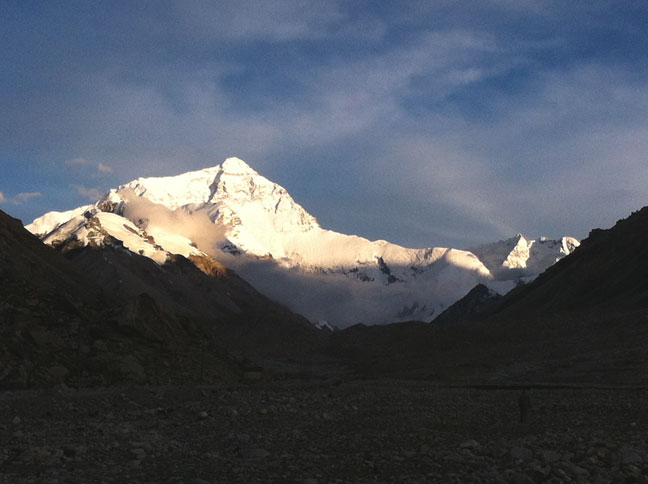 Mount Everest from the base camp
